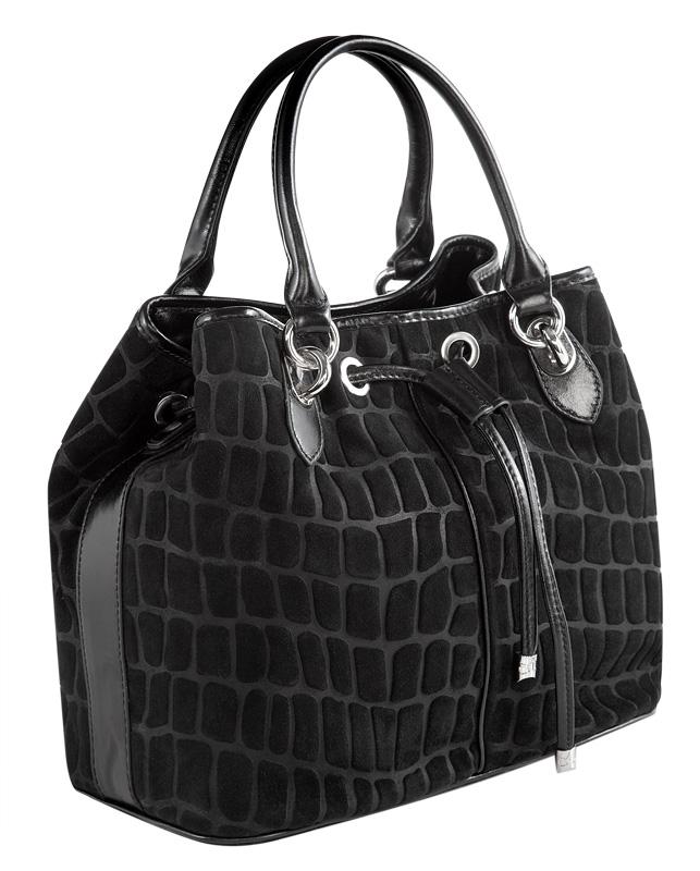 Замшевая сумка Eleganzza, цвет: черный.  Z56A - 9278.