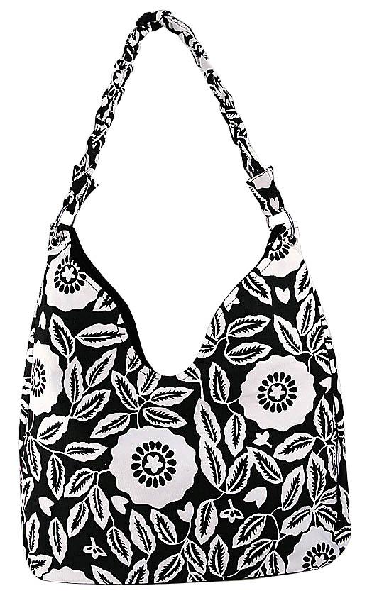 Красивая текстильная сумочка из закупки Полдень, черно-белая, на молнии...