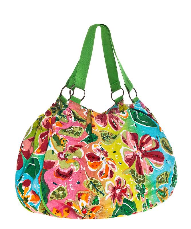 Летние текстильные женские сумки