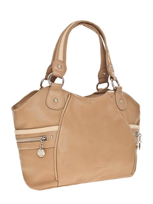 Коричневые кожаные сумки женские.