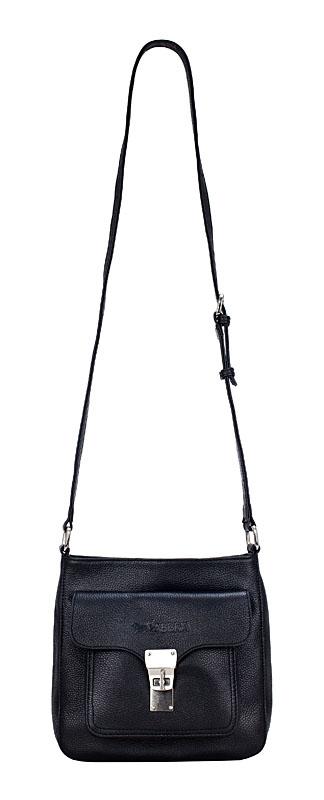 Небольшая кожаная сумка на длинном ремне станет отличным дополнением...
