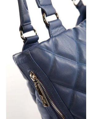 Женская сумка ELEGAN**ZZA выполнена из натуральной кожи синего цвета.