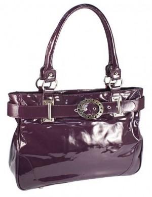 Женская сумка Eleganzza, выполненная из лакированной кожи фиолетового...