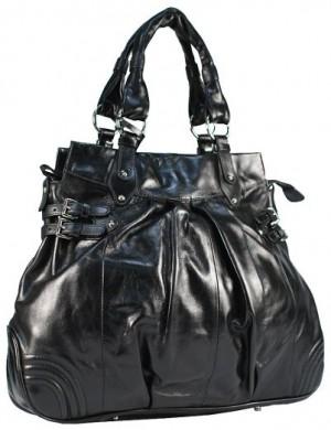 Кожаная женская сумка Palio классического черного цвета, выполненная из...