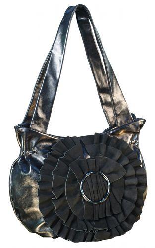 Артикул.  Женская сумка Eleganzza из натуральной кожи черного цвета.