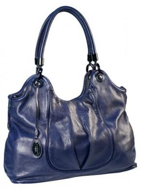 Женская сумка Palio синего цвета выполнена из натуральной кожи, имеет...