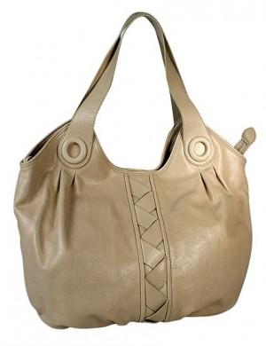 ...сумка Palio выполнена из натуральной глянцевой кожи бежевого цвета.