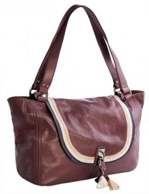Женская сумка Palio, выполненная из натуральной кожи лилового цвета...