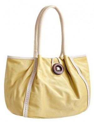 Летняя женская сумка Felicita, выполненная из искусственной кожи желтого...