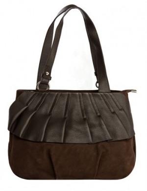 Женская сумка ELEGANZZA выполнена из натуральной замши...