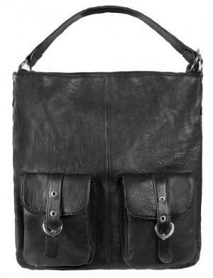 Женская сумка PALIO из натуральной кожи черного цвета.