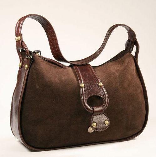 Женская сумка Palio из замши коричневого цвета.