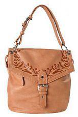 Q-78033.  Женская сумка FELICITA из искусственной кожи песочного цвета.