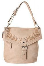 Женская сумка FELICITA из искусственной кожи светло-бежевого цвета.