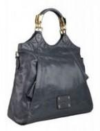 Женская сумка ELEGANZZA выполнена из натуральной кожи серо-синего цвета.