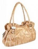 Женская сумка Di Gregorio выполнена из натуральной кожи бежевого цвета с...
